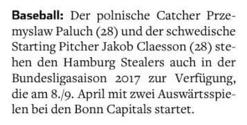 Hamburger Abendblatt, 2.3.2017