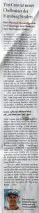 Hamburger Abendblatt, 10.1.2018Tim Crow ist neuer Cheftrainer der Hamburg Stealers