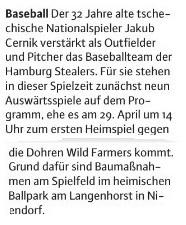 Niendorfer Wochenblatt, 4.4.2018 Baseball (4