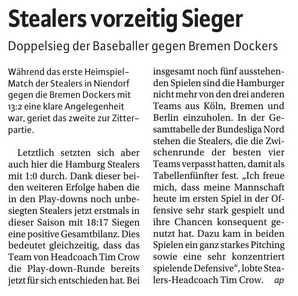 Niendorfer Wochenblatt, 22.8.2018, Stealers vorzeitig Sieger.jpg